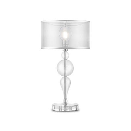 Настольная лампа Maytoni Bubble Dreams MOD603-11-N, 1xE14x40W, прозрачный, хром, металл, стекло, текстиль