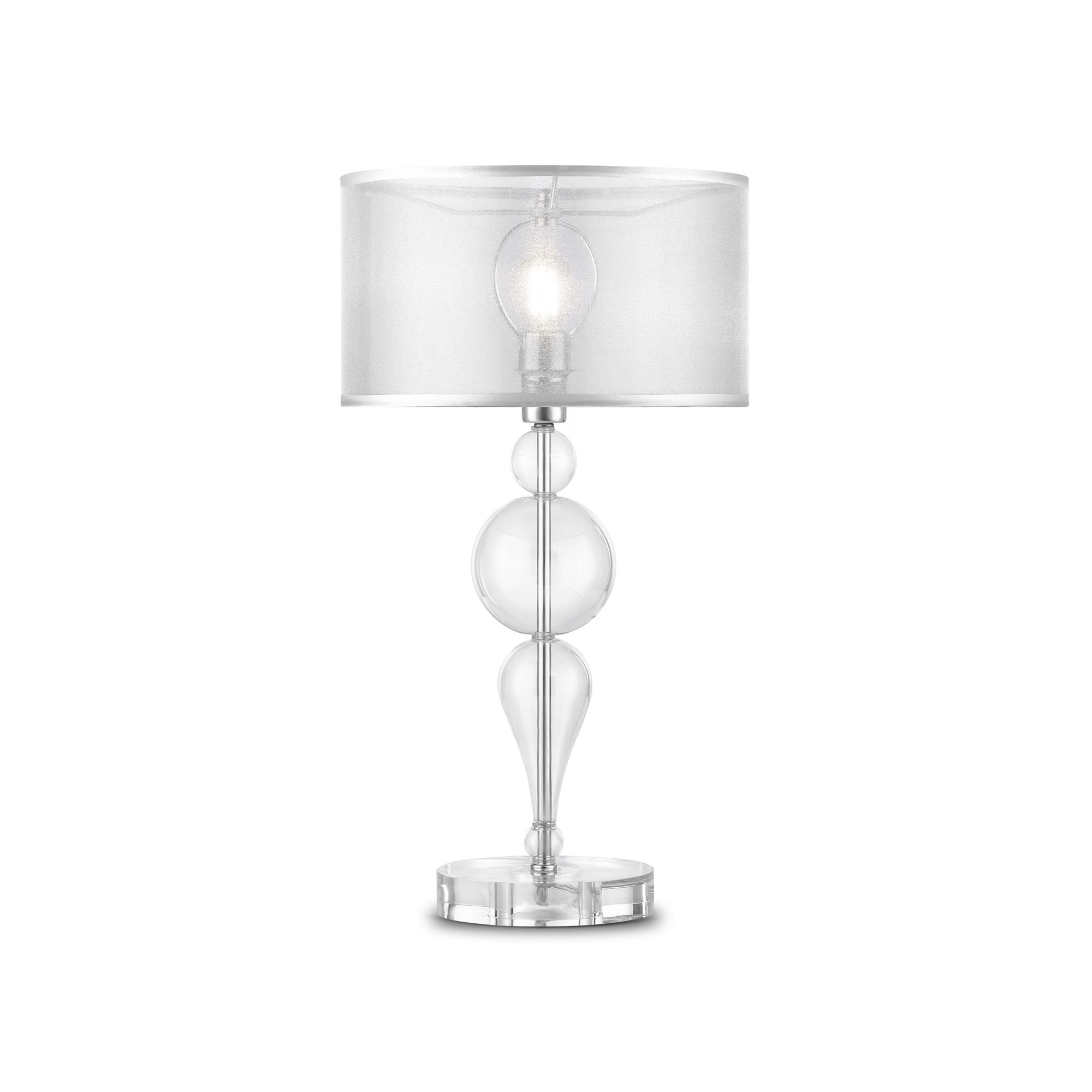Настольная лампа Maytoni Neoclassic Bubble Dreams MOD603-11-N, 1xE14x40W, хром с прозрачным, прозрачный с хромом, прозрачный, стекло с металлом, текстиль - фото 1