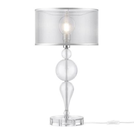 Настольная лампа Maytoni Neoclassic Bubble Dreams MOD603-11-N, 1xE14x40W, хром с прозрачным, прозрачный с хромом, прозрачный, стекло с металлом, текстиль - миниатюра 2