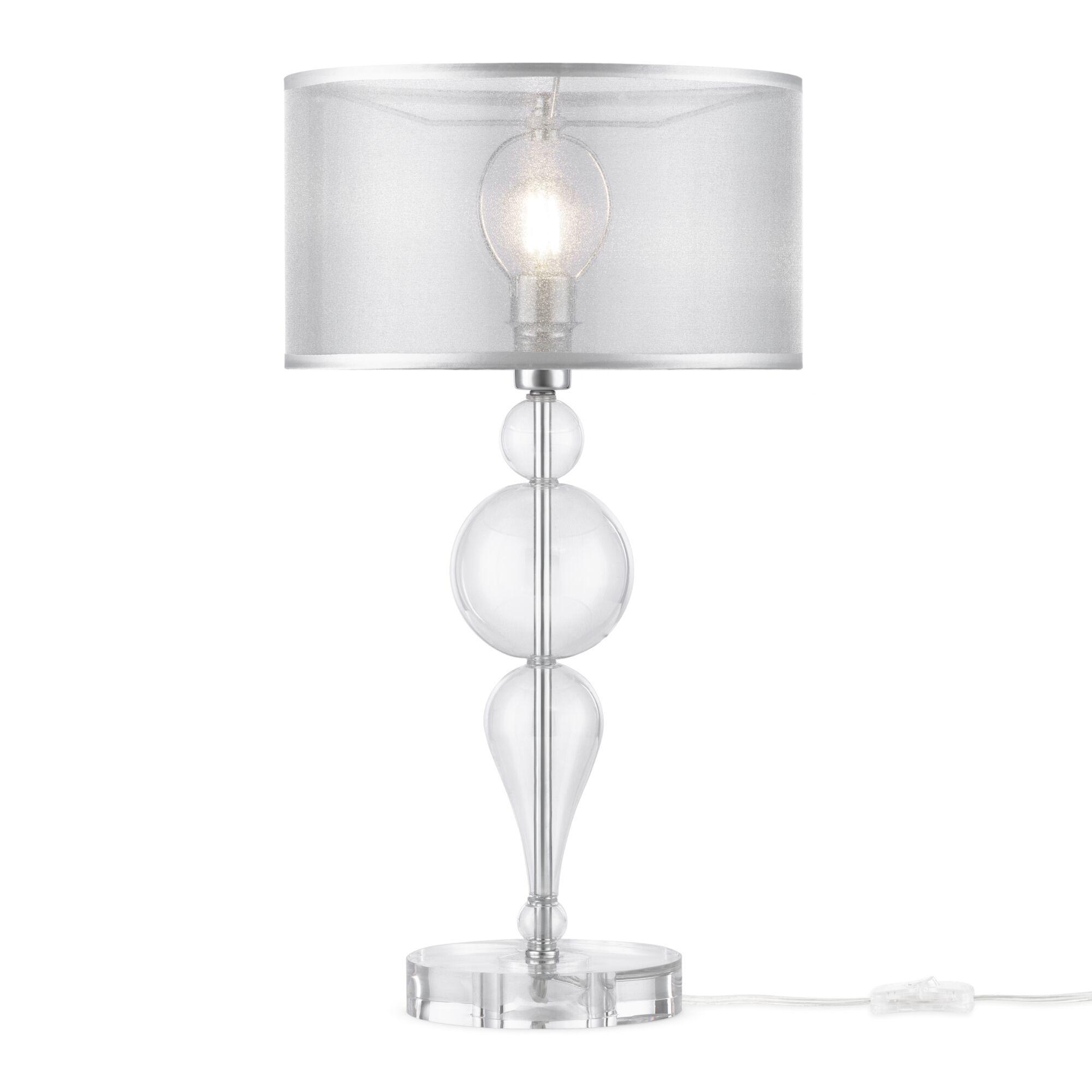 Настольная лампа Maytoni Neoclassic Bubble Dreams MOD603-11-N, 1xE14x40W, хром с прозрачным, прозрачный с хромом, прозрачный, стекло с металлом, текстиль - фото 2