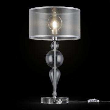 Настольная лампа Maytoni Neoclassic Bubble Dreams MOD603-11-N, 1xE14x40W, хром с прозрачным, прозрачный с хромом, прозрачный, стекло с металлом, текстиль - миниатюра 3