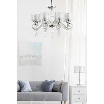 Настольная лампа Maytoni Neoclassic Bubble Dreams MOD603-11-N, 1xE14x40W, хром с прозрачным, прозрачный с хромом, прозрачный, стекло с металлом, текстиль - миниатюра 4