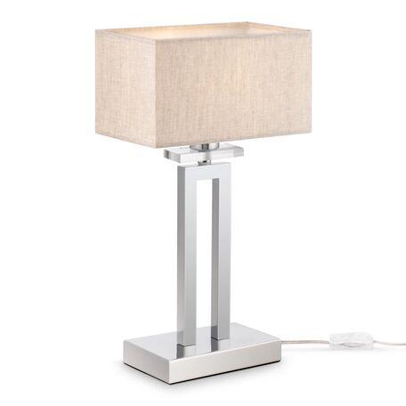 Настольная лампа Maytoni Neoclassic Megapolis MOD906-11-N, 1xE14x40W, хром, серый, металл, текстиль