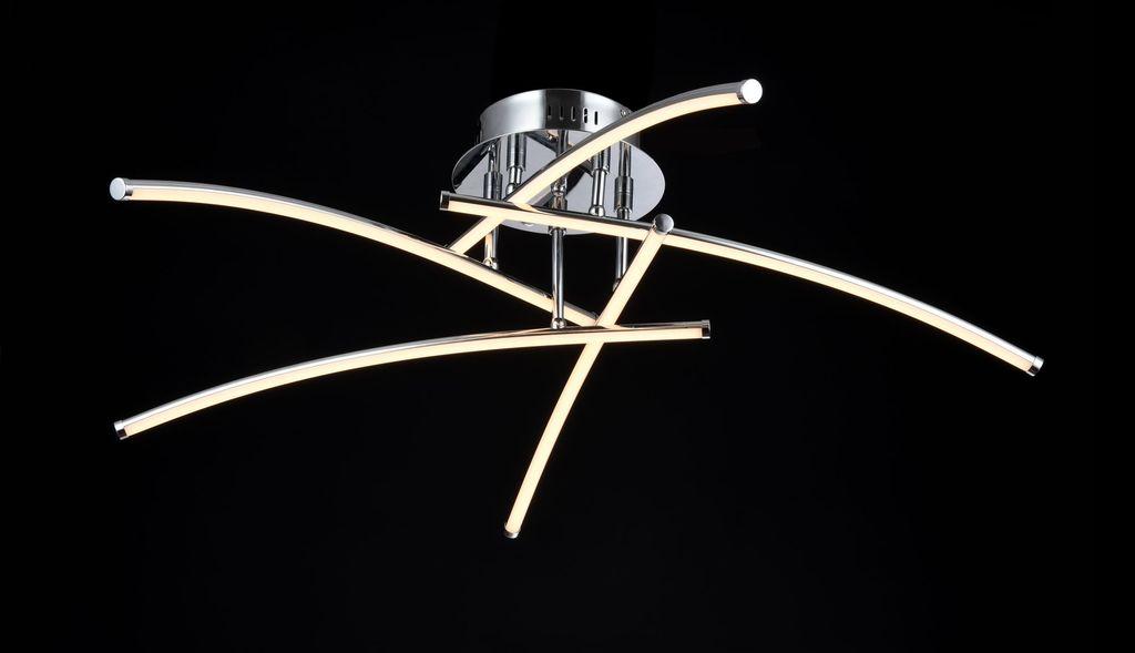 Потолочная светодиодная люстра Maytoni Pluto MOD212-05-N, LED 36W 2700K 1500lm CRI80, хром, белый, металл, металл с пластиком - фото 2