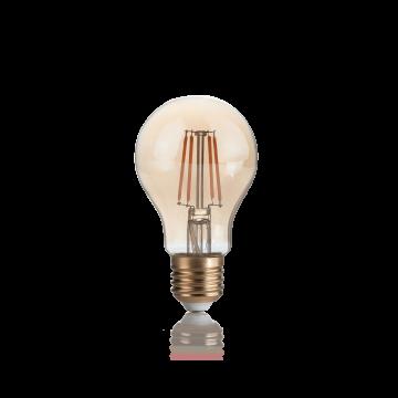 Филаментная светодиодная лампа Ideal Lux E27 VINTAGE 04W GOCCIA AMBRA 2200K 151687 (VINTAGE E27 4W GOCCIA 2200K) груша E27 4W (теплый) 240V