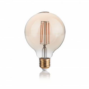 Филаментная светодиодная лампа Ideal Lux LAMPADINA VINTAGE E27 4W GLOBO SMALL 151717 шар E27 4W, 2200K (теплый) 240V