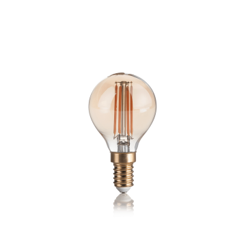 Филаментная светодиодная лампа Ideal Lux LAMPADINA VINTAGE E14 4W SFERA 151656 G45 E14 4W 2200K (теплый) 240V