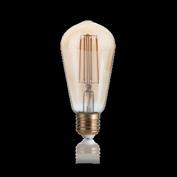Филаментная светодиодная лампа Ideal Lux LAMPADINA VINTAGE E27 4W CONO 151694 ST60 E27 4W 2200K (теплый) 240V