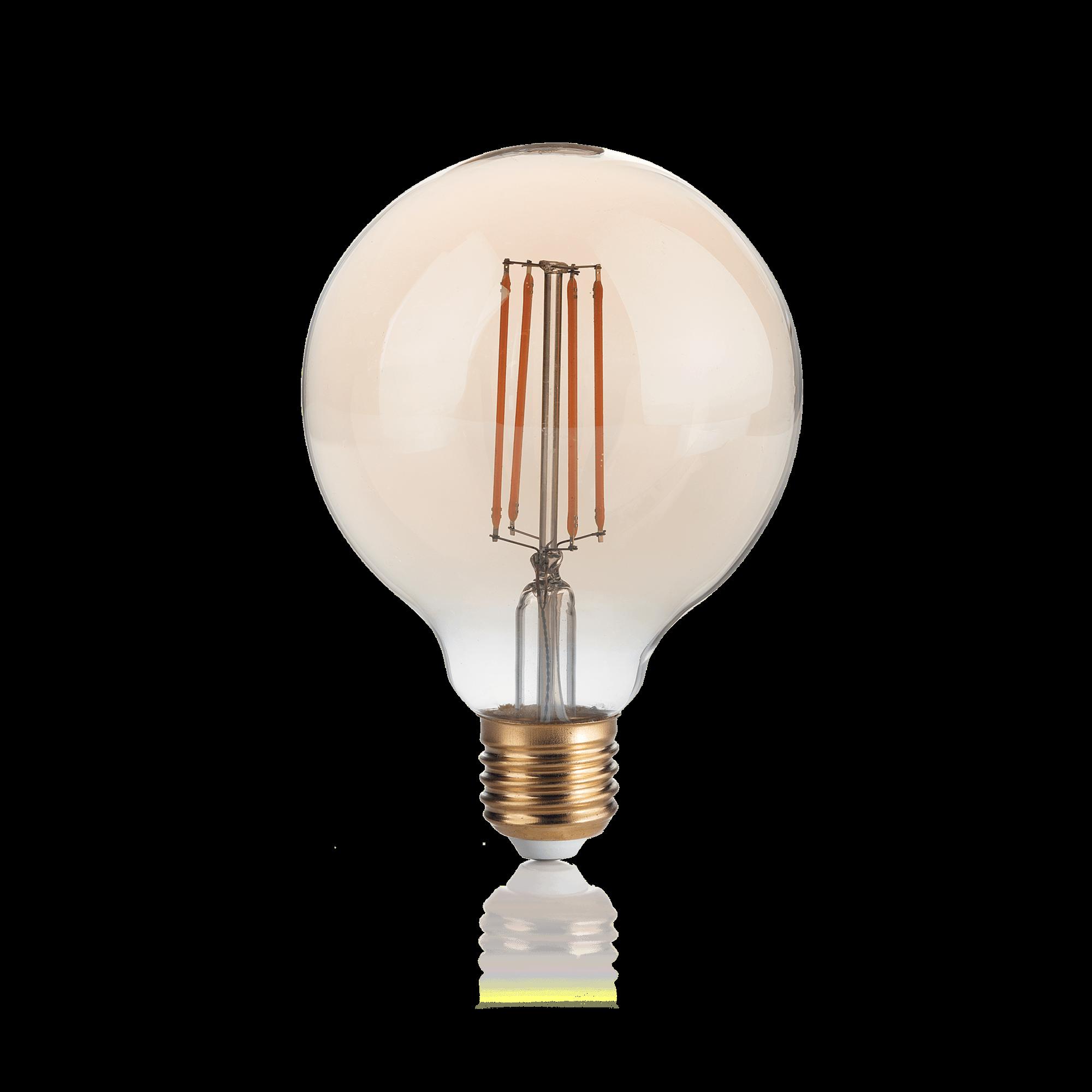 Филаментная светодиодная лампа Ideal Lux LAMPADINA VINTAGE E27 4W GLOBO SMALL 151717 G95 E27 4W 2200K (теплый) 240V - фото 1