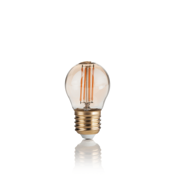 Филаментная светодиодная лампа Ideal Lux LAMPADINA VINTAGE E27 4W SFERA 151861 G45 E27 4W 2200K (теплый) 240V