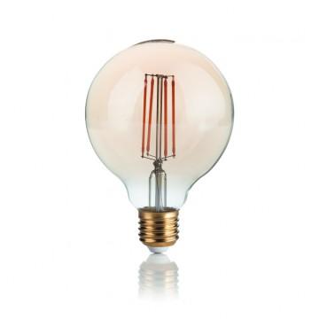 Филаментная светодиодная лампа Ideal Lux LED Vintage LAMPADINA VINTAGE E27 4W GLOBO SMALL 151717 G95 E27 4W 300lm 2200K (теплый) 240V, недиммируемая