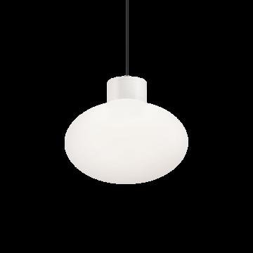Подвесной светильник Ideal Lux ARMONY SP1 BIANCO 148922, IP44, 1xE27x60W, белый, металл, пластик