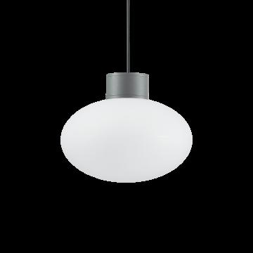 Подвесной светильник Ideal Lux ARMONY SP1 ANTRACITE 149486, IP44, 1xE27x60W, серый, белый, металл, пластик