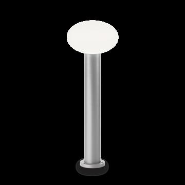 Садово-парковый светильник Ideal Lux ARMONY PT1 GRIGIO 147376, IP44, 1xE27x60W, серый, белый, металл, пластик