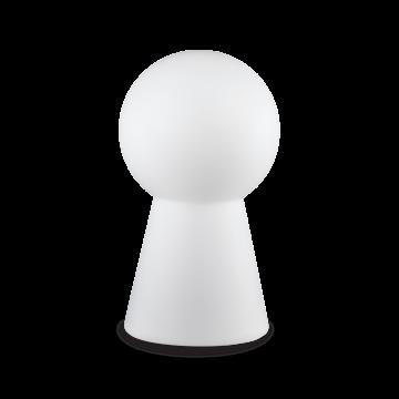 Садовый светильник Ideal Lux BIRILLO OUTDOOR TL1 131955, IP44, 1xE27x60W, белый, стекло