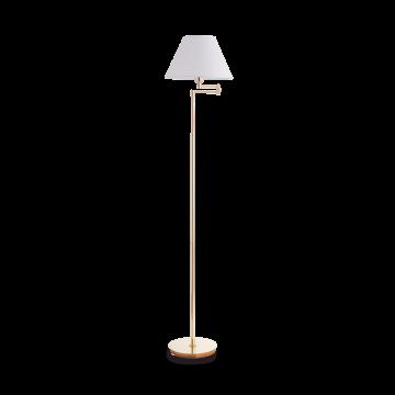 Торшер Ideal Lux BEVERLY PT1 OTTONE SATINATO 140315, 1xE27x60W, золото, белый, металл, текстиль