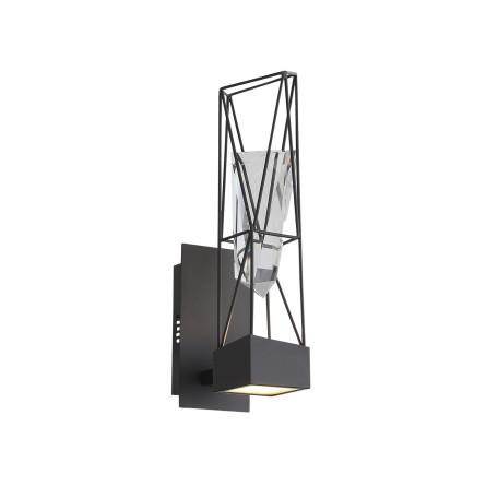 Настенный светодиодный светильник ST Luce Progetto SL815.301.01, LED 8W 4000K, серый, металл, металл с хрусталем