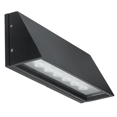 Настенный светодиодный светильник Novotech Street Submarine 357225, IP54, LED 6W 4000K 720lm, черный, металл, стекло