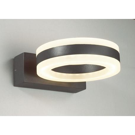 Настенный светодиодный светильник Novotech Kaimas 357398, IP54, LED 12W 3000K 730lm, серый, металл, металл с пластиком, пластик