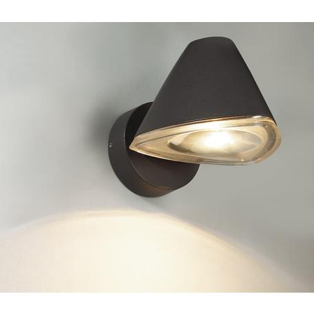 Настенный светодиодный светильник Novotech Kaimas 357399, IP54, LED 6W, 3000K (теплый), серый, прозрачный, металл, пластик