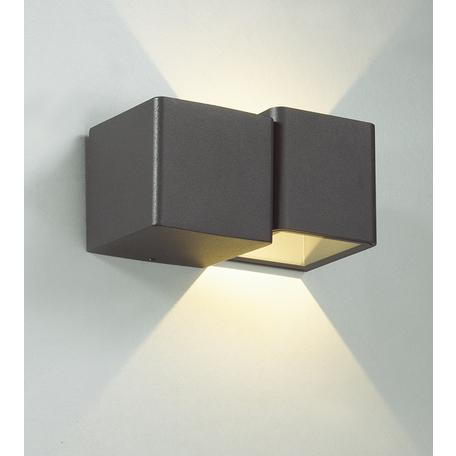 Настенный светодиодный светильник Novotech Kaimas 357400, IP54, LED 3W 3000K 50lm, серый, металл, стекло
