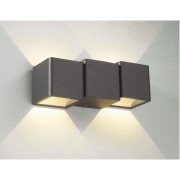 Настенный светодиодный светильник Novotech Kaimas 357401, IP54, LED 6W 3000K 100lm, серый, металл, стекло
