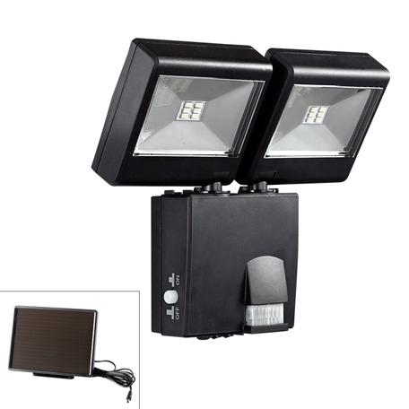 Светодиодный прожектор Novotech Solar 357345, IP65, LED 6W, 5000K (холодный), черный, прозрачный, пластик