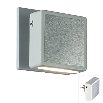 Штекерный светодиодный светильник-ночник Novotech Night Light 357319, LED 1,2W 3000K 40lm, алюминий, пластик