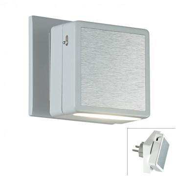 Штекерный светодиодный светильник-ночник Novotech Night Light 357320, LED 1,2W 3000K 40lm, алюминий, пластик