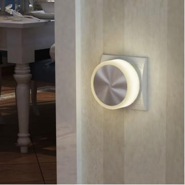 Штекерный светодиодный светильник-ночник Novotech Night Light 357322, LED 1,44W, 3000K (теплый), белый, сталь, пластик - миниатюра 2