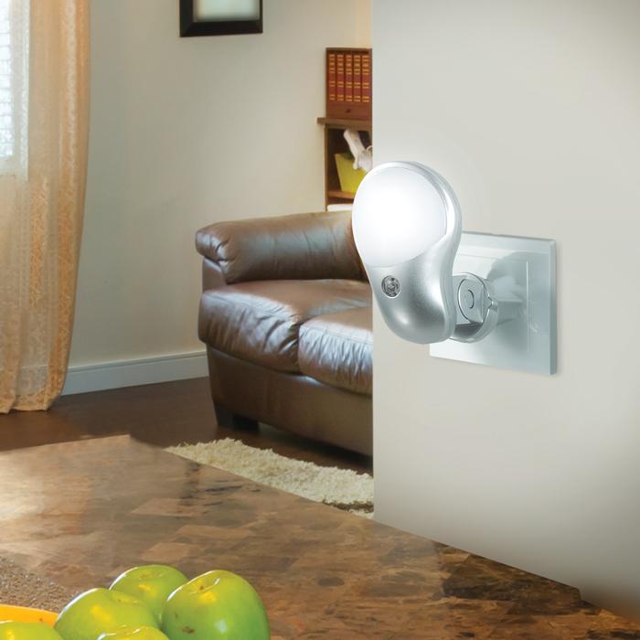 Штекерный светодиодный светильник-ночник Novotech Night Light 357325, LED 0,5W, RGB, серебро, белый, пластик - фото 2