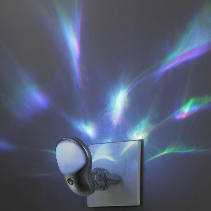 Штекерный светодиодный светильник-ночник Novotech Night Light 357325, LED 0,5W, RGB, серебро, белый, пластик - фото 3
