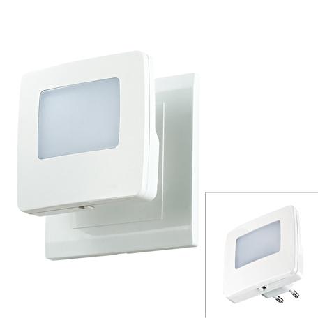 Штекерный светодиодный светильник-ночник Novotech Night Light 357328, LED 0,5W, синий/зеленыйK, белый, пластик