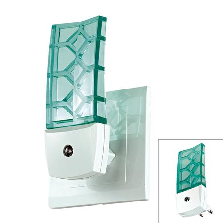 Штекерный светодиодный светильник-ночник Novotech Night Light 357330, LED 0,5W, 9000K (холодный), белый, зеленый, пластик