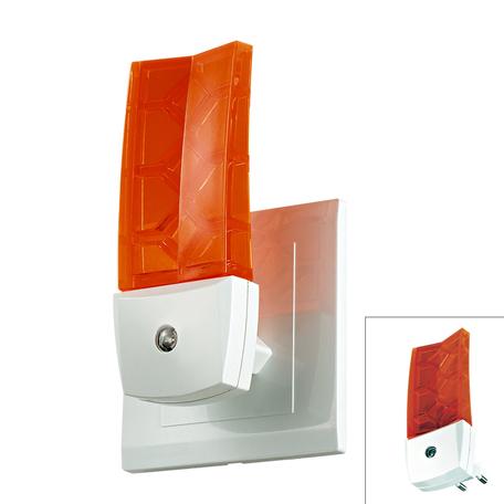 Штекерный светодиодный светильник-ночник Novotech Night Light 357331, LED 0,5W 9000K, белый, оранжевый, пластик