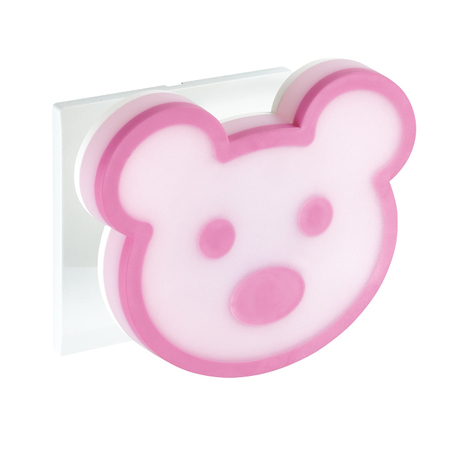 Штекерный светодиодный светильник-ночник Novotech Night Light 357334, LED 0,9W, 3000K (теплый), белый, розовый, пластик