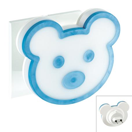 Штекерный светодиодный светильник-ночник Novotech Night Light 357335 3000K (теплый), белый, голубой, пластик