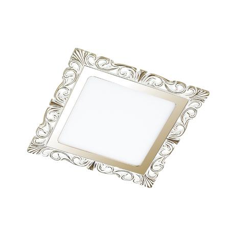 Светодиодная панель Novotech Spot Peili 357278, LED 9W 3000K 990lm, белый, золото, металл с пластиком, пластик