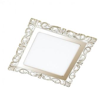 Светодиодная панель Novotech Spot Peili 357279, LED 12W 3000K 1320lm, белый, золото, металл с пластиком, пластик