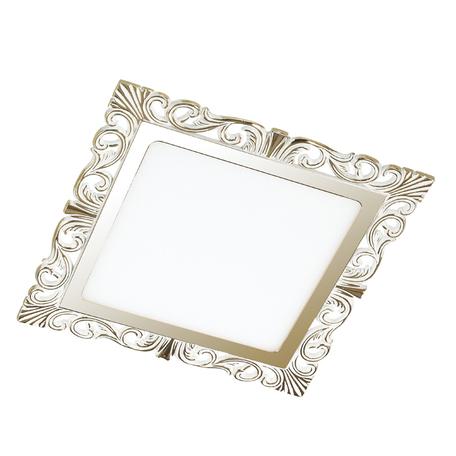 Светодиодная панель Novotech Spot Peili 357280, LED 15W 3000K 1650lm, белый, золото, металл с пластиком, пластик
