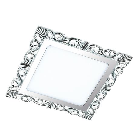 Светодиодная панель Novotech Spot Peili 357282, LED 12W 3000K 1320lm, белый, хром, металл с пластиком, пластик