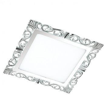 Светодиодная панель Novotech Spot Peili 357283, LED 15W 3000K 1650lm, белый, хром, металл с пластиком, пластик