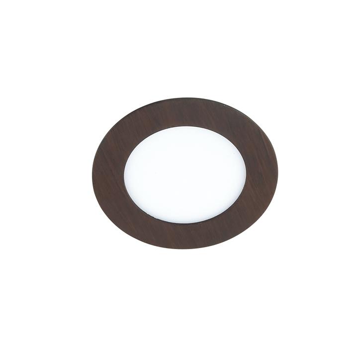 Встраиваемая светодиодная панель Novotech Spot Lante 357293, LED 6W 3000K 660lm, коричневый, металл с пластиком, пластик - фото 1