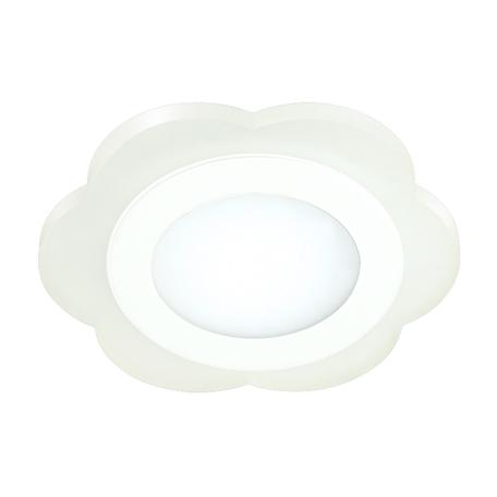 Встраиваемая светодиодная панель Novotech Lago 357318, LED 12W, 3000K/7000K, белый, металл, пластик