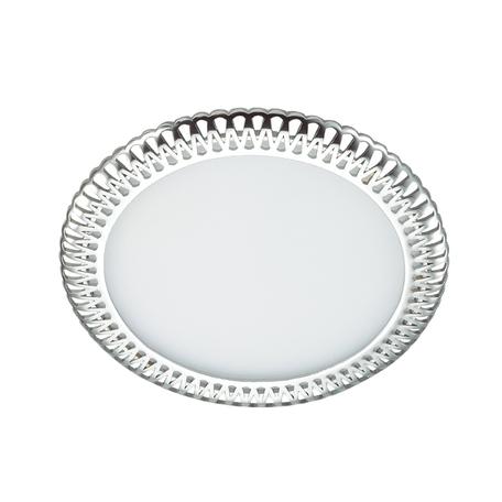 Встраиваемая светодиодная панель Novotech Sade 357366, LED 12W, 3000K (теплый), белый, хром, металл, пластик
