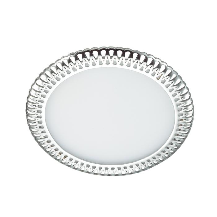 Встраиваемая светодиодная панель Novotech Sade 357366, LED 12W, 3000K (теплый), белый, хром, металл, пластик - фото 1