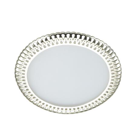 Встраиваемая светодиодная панель Novotech Sade 357371, LED 6W, 3000K (теплый), белый, серебро, металл, пластик