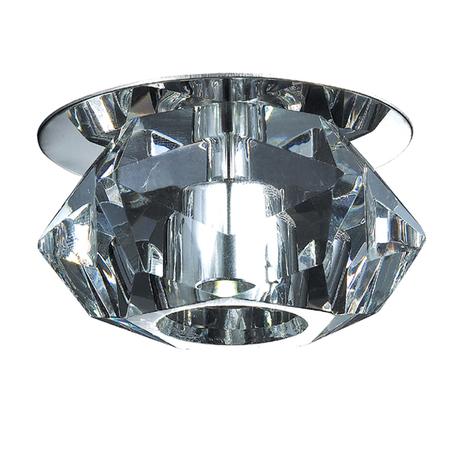 Встраиваемый светодиодный светильник Novotech Crystal-LED 357011, LED 1W 8000K 90lm, хром, прозрачный, металл, хрусталь - миниатюра 1