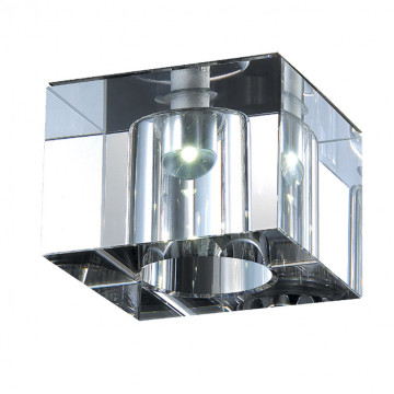 Встраиваемый светодиодный светильник Novotech cubic-led 357013, LED, металл, хрусталь