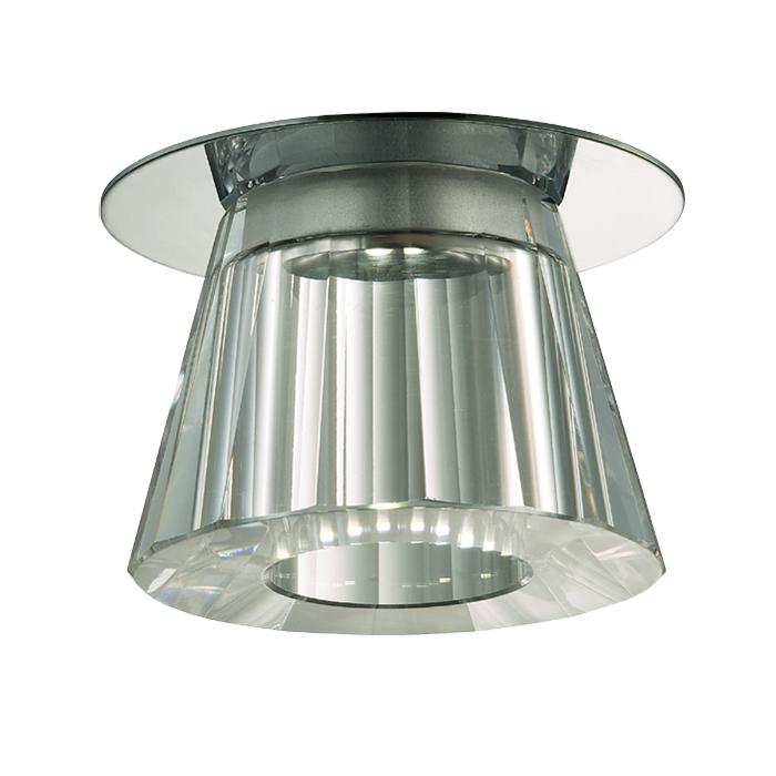 Встраиваемый светодиодный светильник Novotech Glitz 357044, 6500K (холодный), хром, прозрачный, металл, хрусталь - фото 1